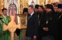 His Holiness Patriarch Kirill awards Mr. Dmitry Firtash, patron of the Holy Trinity Cathedral construction, with the Order of Holy Serafim Sorovsky, 2nd Degree