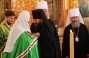 His Holiness Patriarch Kirill awards Father Superior of the Monastery, Archimandrite Longuin with the Order of Prince Vladimir, 3rd Degree